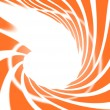 Stock Photo: Abstract swirl orange on white background
