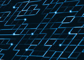 Abstract square pixel mosaic blue background — Stock Photo