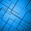 Zdjęcie stockowe: Abstract lines square blue background