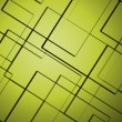 Stock Photo: Abstract lines square with yellow background
