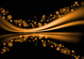 Orange abstrakte linien kurve background — Stockfoto