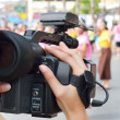Cameraman recording video — Stockfoto