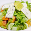 Fresh vegetable salad with feta cheese — Stock Photo