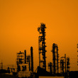Stock Photo: Oil refinery silhouette