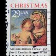 USA. Postage stamp Christmas collection — Stock Photo