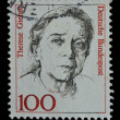 Germany postage stamp shows a woman portrait (1988) — Stock Photo