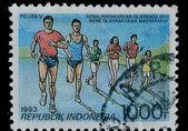 Indonesia postage stamp, sport — Стоковое фото