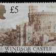 United Kingdom postage stamp, castle — Stock Photo