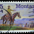 USA postage stamp, Montana — Stock Photo