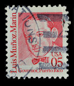 USA. Postage stamp shows a portrait — Stock Photo