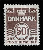 Denmark postage stamp — Stock Photo