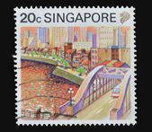 Singapore postage stamp, circa 1987 — Stock Photo