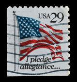 USA postage stamp, flag — Stock Photo