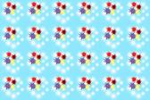 Bezszwowe kolor ikony wzór na niebiesko — Zdjęcie stockowe