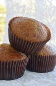 Banana muffins on cloth — Foto Stock