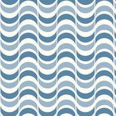 波状の背景とのシームレスな幾何学的なパターン — ストックベクタ