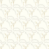 Seamless vector floral pattern background — Vector de stock