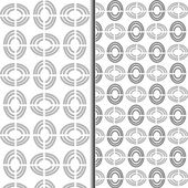 Vector seamless pattern, geometric tiles monochrome background — Stockvector