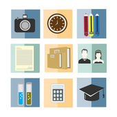 Set of back to school object vector illustration icon — Stock Vector