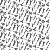 Vector seamless pattern working tools icon — Stock Vector