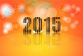 2015 year celebration, Illustration vector background — Stock vektor