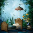 Stock Photo: Fantasy bedroom