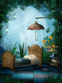 Fantasy bedroom — Stock Photo