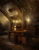 Fantasy attic — Stock Photo