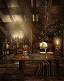 Fantasy room in the attic — Stock Photo