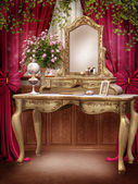 Victorian room with ivy — Stock Photo