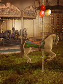 Old Victorian carousel — Stock Photo