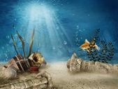 Underwater ruins — Stock Photo