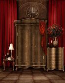 Ročník prostor s šatní skříň — Stock fotografie