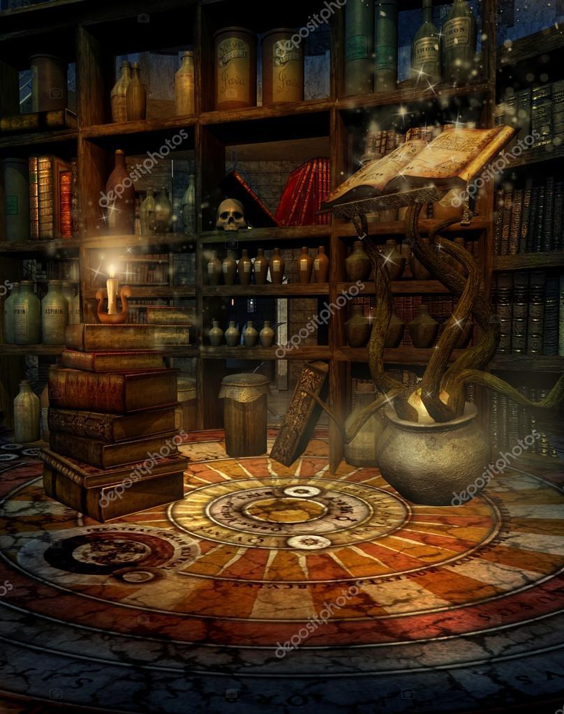 Wizard S Study Stock Photo 169 Fairytaledesign 12671797