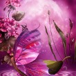 Pink butterfly boat - Photo