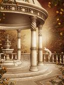 Autumnal rotunda — Stock Photo