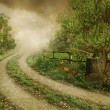 Old country road — Stock Photo