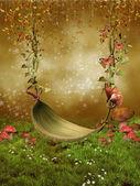 Fantasy leaf swing — Stock Photo
