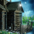 Fantasy wooden cottage — Stock Photo