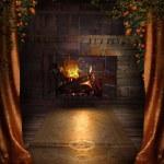 Vintage fireplace — Stock Photo #12856736