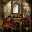 Victorian room with roses — Stockfoto