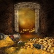 Treasure cave — Stock Photo