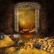 Stock Photo: Treasure cave