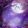 Fantasy tree with flowers — Stock Photo