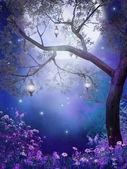 Purple meadow — Stock Photo