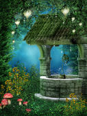 Fantasy wishing well — Stock Photo