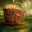 Fairytale acorn house — Stock Photo