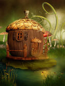 Fairytale acorn house — Foto Stock
