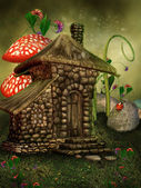 Summer fairy cottage — Stock Photo