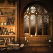 Stock Photo: Wizard's library